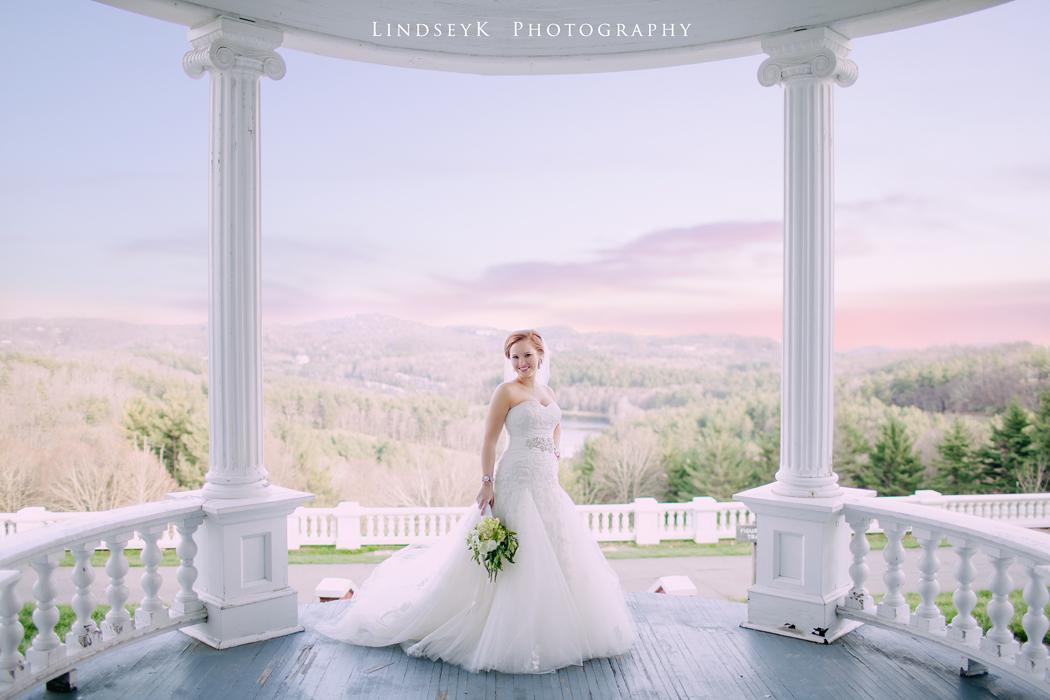 Katies Bridal Portraits Moses Cone Manor Blowing Rock NC LindseyK Photography